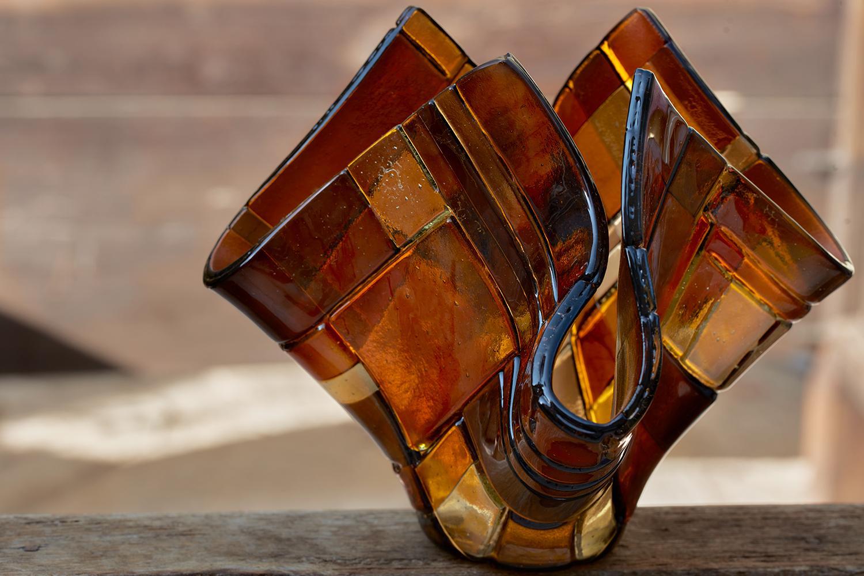 Amber Hues Handkerchief Vase